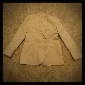 Christian Dior vintage tan/gold blazer size 14
